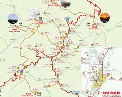 wutaishan mount wutai map china wutaishan map