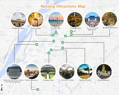 Tourists Map of Nanjing