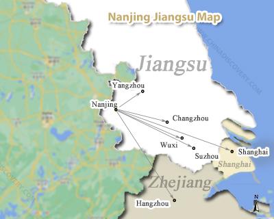 Nanjing Maps, Nanjing China Map, Nanjing Shanghai Map