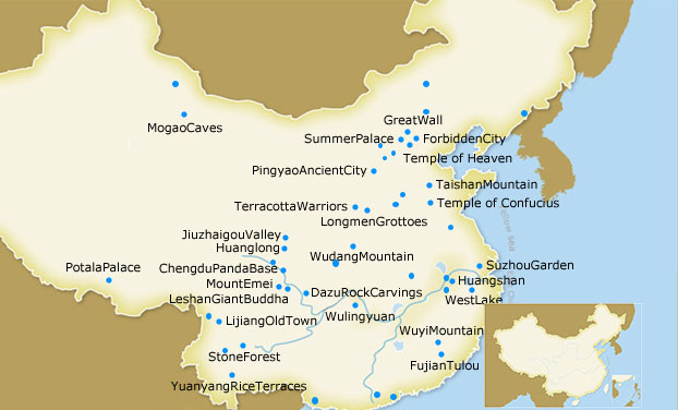 China heritage tours china national parks tour jiuzhaigou china world heritage map overview gumiabroncs Image collections