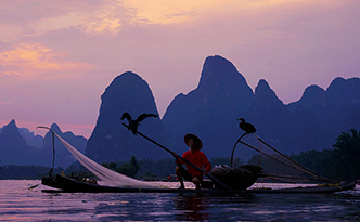 Fishing Light on Li River