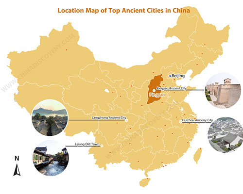 Map of Ancient Chinese Cities
