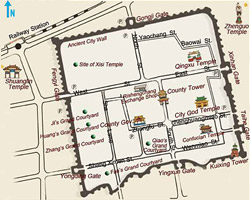 Pingyao Attractions Map