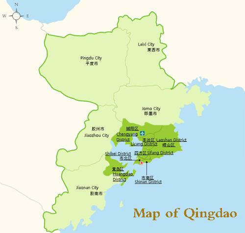 Qingdao Map Qingdao China Map Qingdao City Map