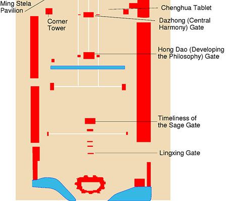 Confucius Temple Tourist Map