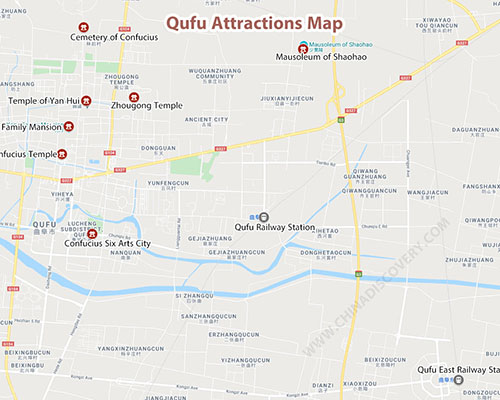 Qufu Attractions Map
