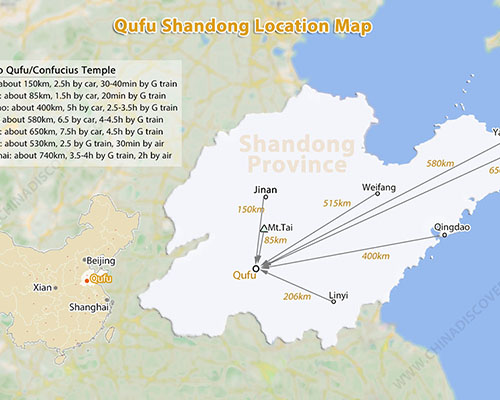 Qufu Location Map