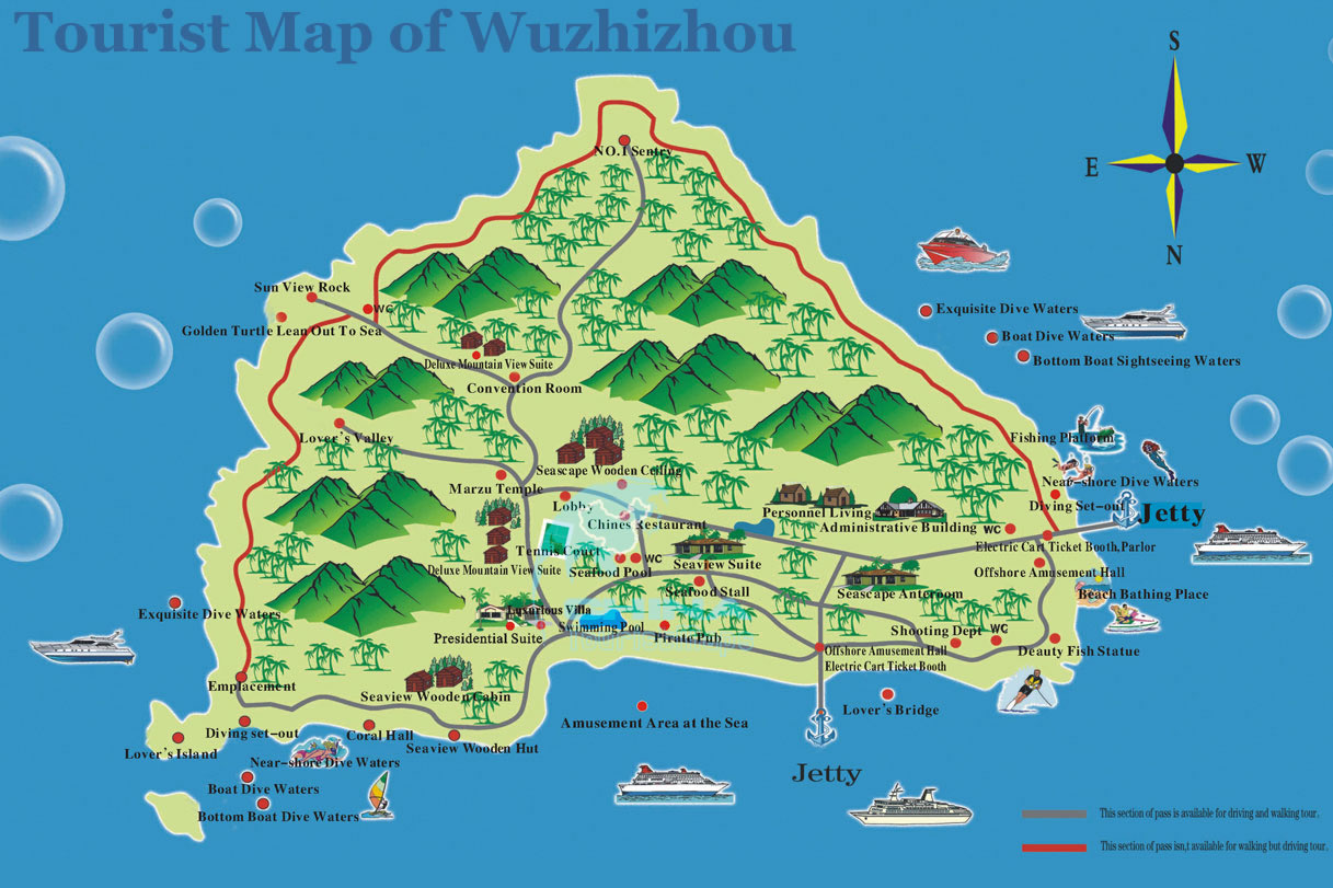 Map Of The Island Of Antigua