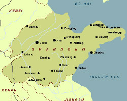 Cities of Shandong Map