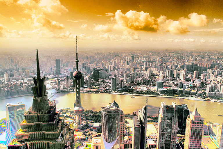 Overview of Shanghai Cityscape<