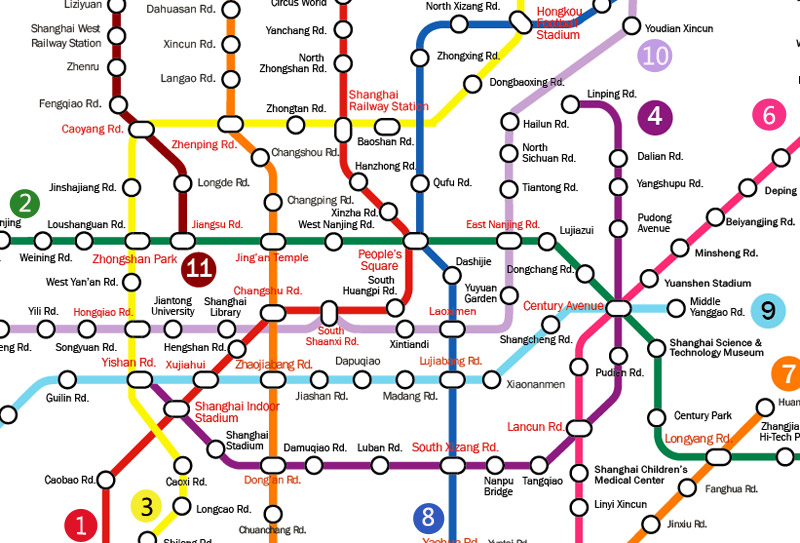 Shanghai Subway Map Pdf | Time Zones Map