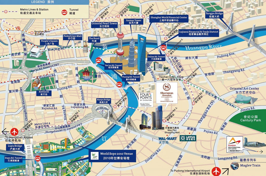 Downloadable and Detailed Maps of Shanghai Shanghai Subway Map – China Tourist Attractions Map