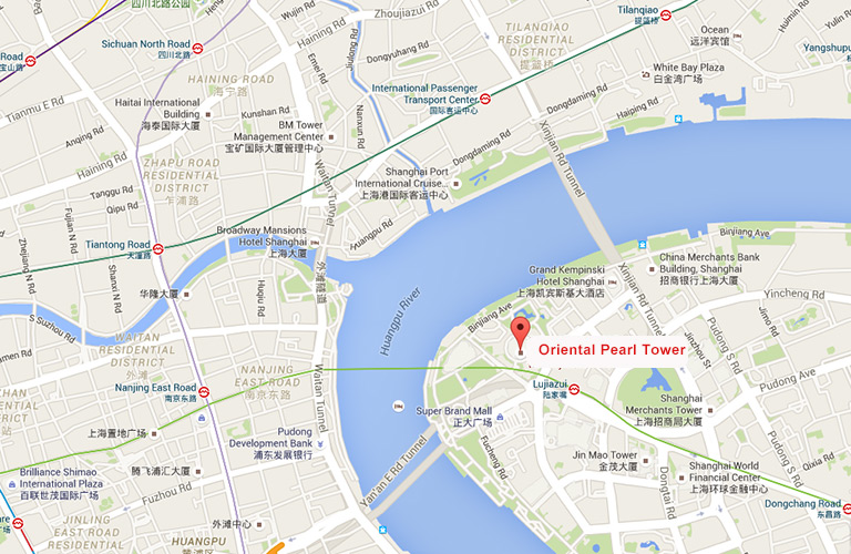 Oriental Pearl Tower Map