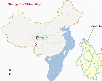 Shangri-La China Map