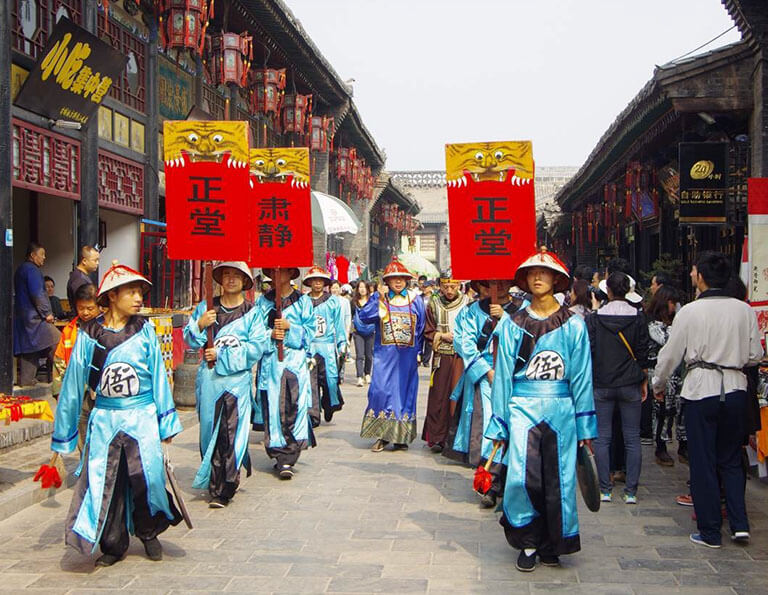 Cultural performance in Pingyao Ancient City