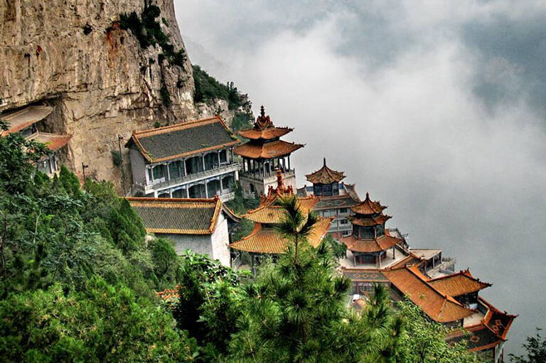 Taoist Temple in Mianshan Mountain