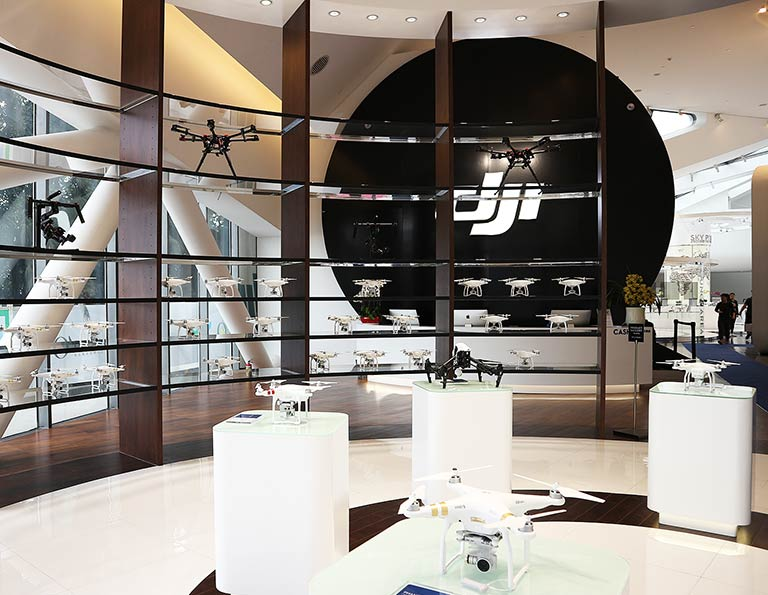 DJI Flagship Store located in OCT Harbor