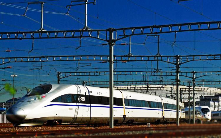 High-speed train from Beijing to Shanghai
