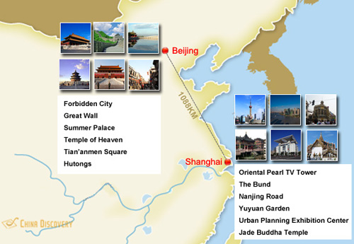 Beijing Shanghai Attractions Map and Travel Experience – Beijing Tourist Attractions Map