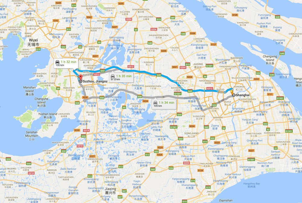 Shanghai To Suzhou Trains Shanghai Suzhou Bullet Trains Transfer - Suzhou map