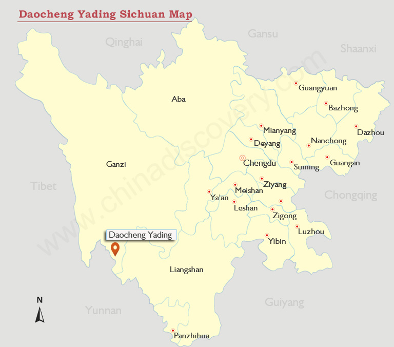 Daocheng Yading Map
