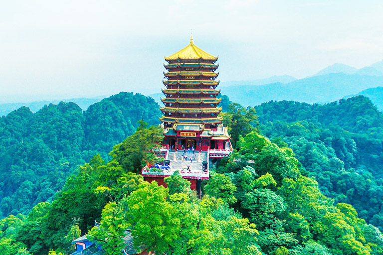 Laojun Pavilion on the Peak of Mount Qingcheng