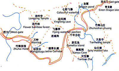 Shunan Bamboo Forest Map