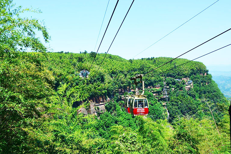 2,742-meter Cableway Experience through Bamboo Forest