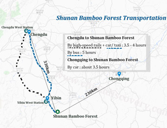 Shunan Bamboo Forest Transportation Map
