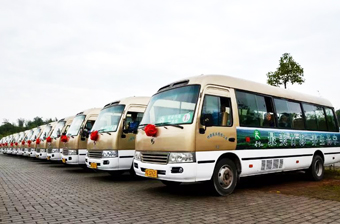 Sightseeing Bus in Shunan Bamboo Forest