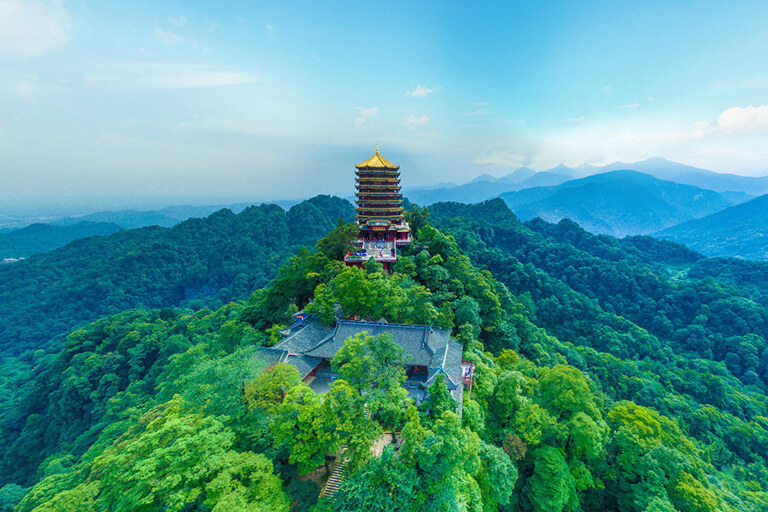 Panoramic View of Mount Qingcheng