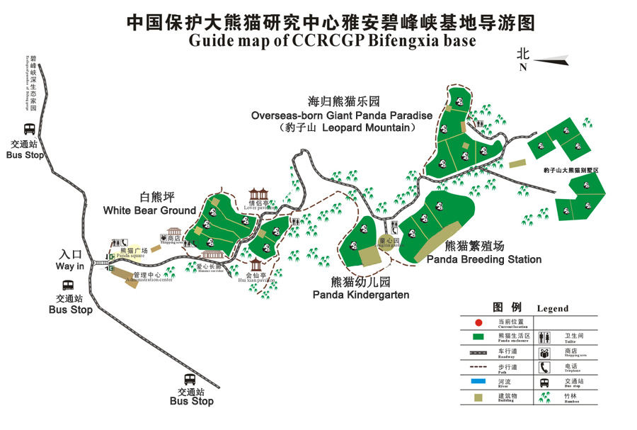 Bifengxia Panda Base - Bifengxia Panda Base Map
