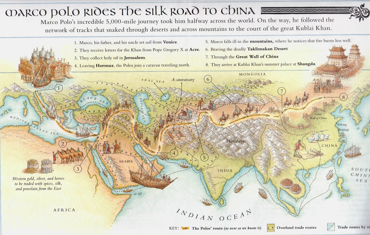 image about Silk Road Map Printable named Silk Street Maps 2019 - Instructive map of the historic Silk Highway Routes