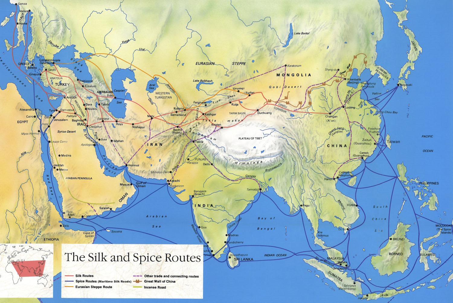 Silk Road Map Silk Road Maps 2019   Useful map of the ancient Silk Road Routes Silk Road Map