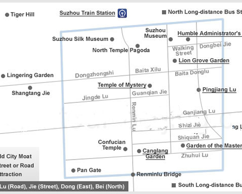 Suzhou Attraction Map