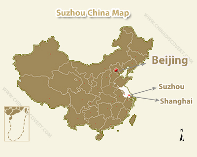 Suzhou Location Map