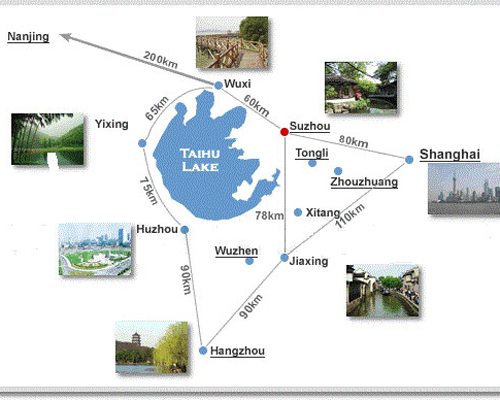Suzhou Side Trip Map