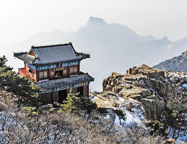 Ancient Temple on Mount Tai