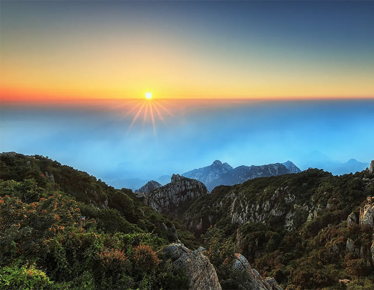 Sunrise of Mount Tai