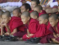 The Buddhism monks in Tibet