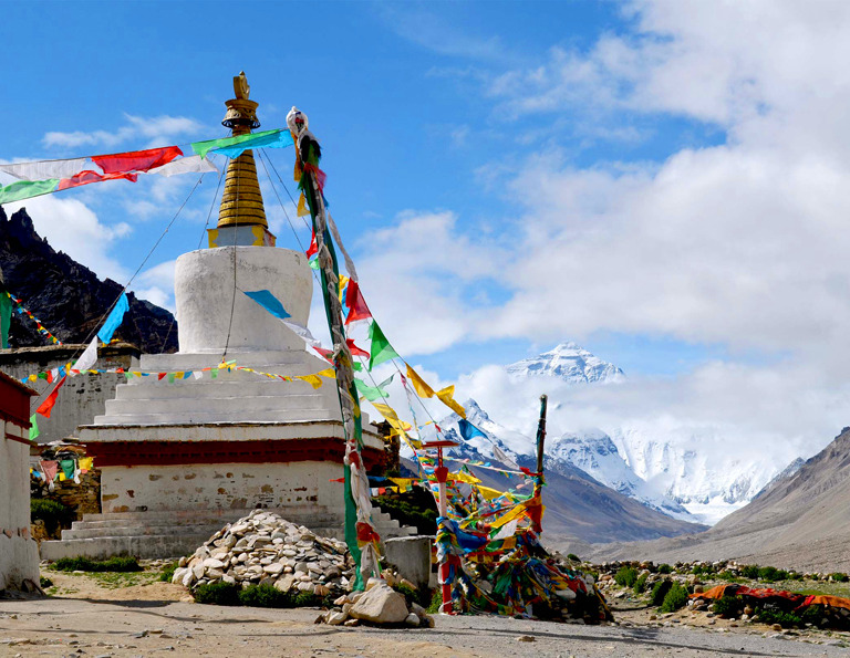 Mount Everest - Rongbuk Monastery