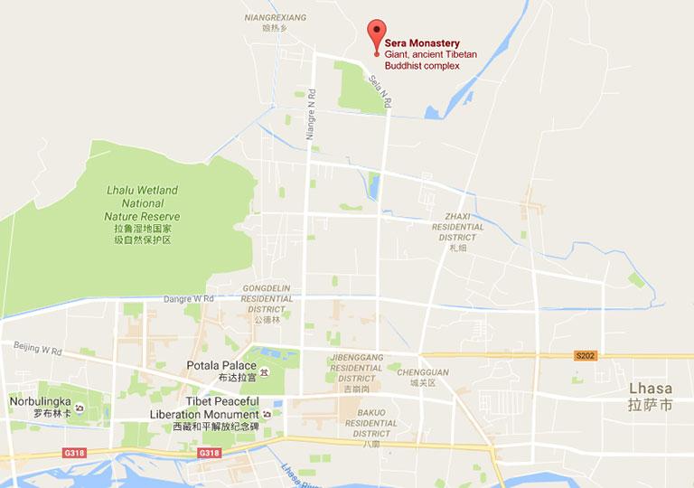 Lhasa China Map.Sera Monastery Lhasa Tibet Buddhism Debate Tour Maps Tips