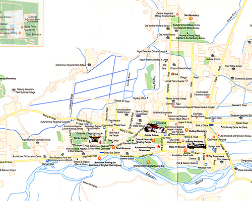 Lhasa Tourist Map