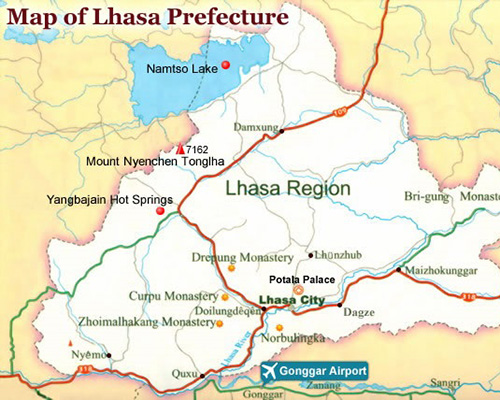 Lhasa Region Map