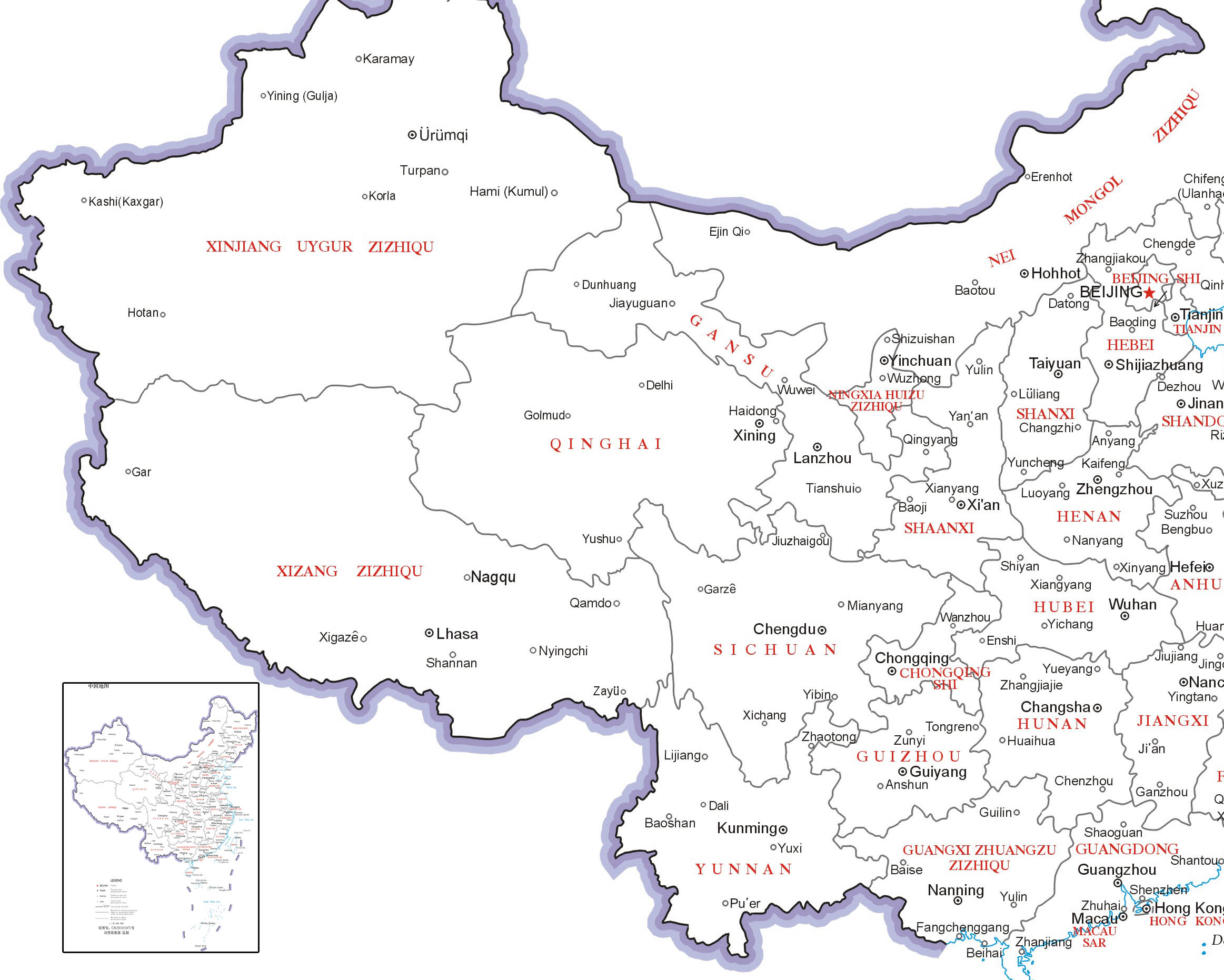 Tibet Location Map