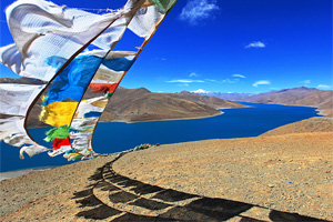 Yamdrok Lake in Gyantse