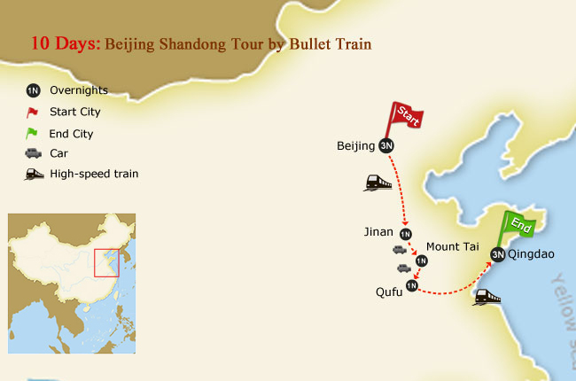 10 Days Beijing Shandong Tour by Bullet Train