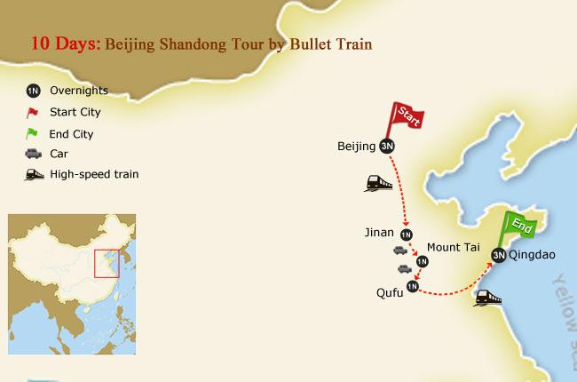 shandong tour beijing qufu trip high speed train