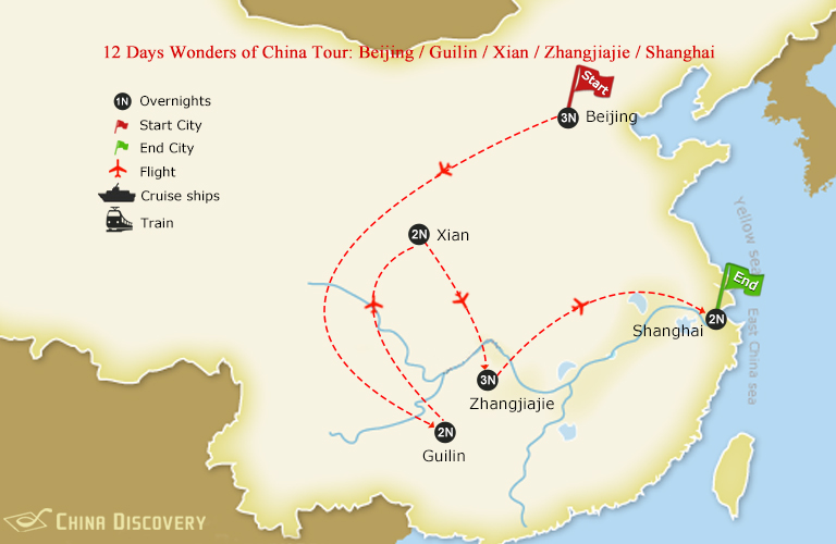 12 Days Wonders of China Tour