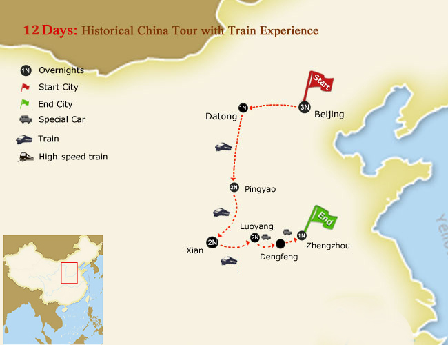 13 Days Historical China Tour with Train Experience